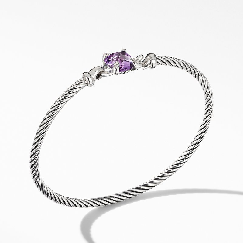David Yurman Chatelaine® Bracelet with Amethyst and Diamonds