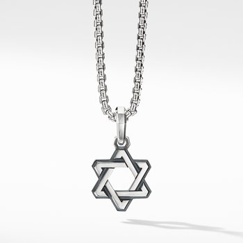 Deco Star of David Pendant