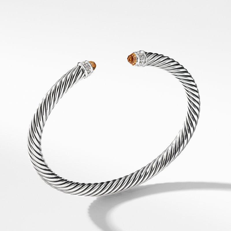 David Yurman Cable Classics Bracelet with Citrine and Diamonds