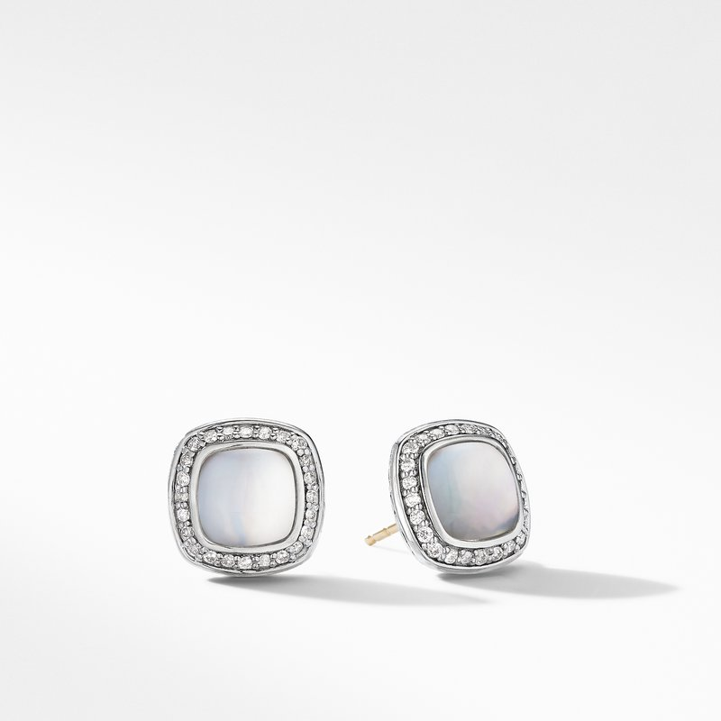 David Yurman Albion® Stud Earrings with Rock Crystal and Diamonds