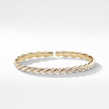 Pavéflex Bracelet in 18K Gold with Diamonds