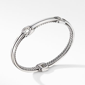 Thoroughbred® Double Link Bracelet with Diamonds