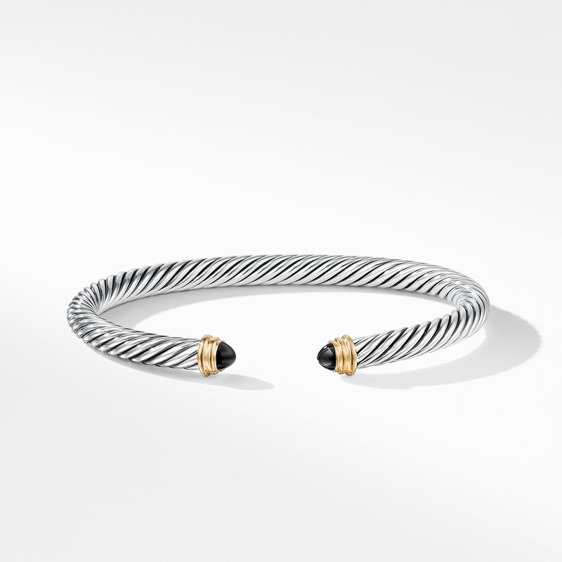 David Yurman Cable Classics Collection® Bracelet with Black Onyx and 14K Gold
