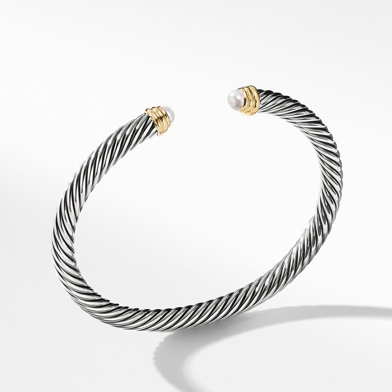 David Yurman Cable Classics Collection® Bracelet with Pearls and 14K Gold