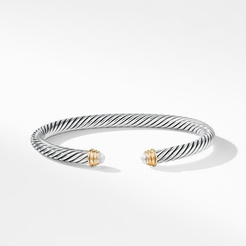 Cable Classics Collection® Bracelet with Pearls and 14K Gold