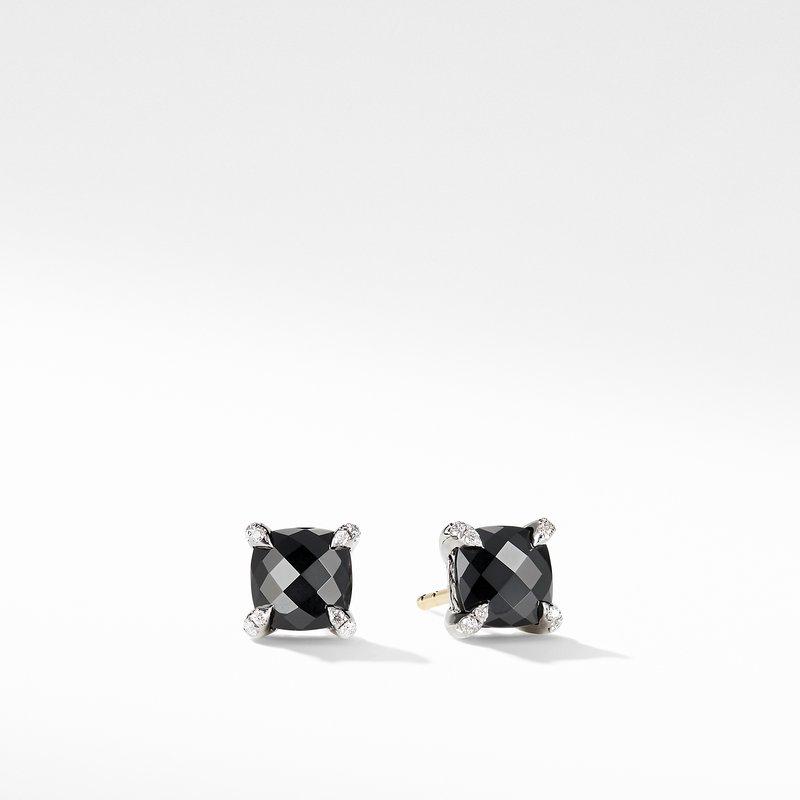 David Yurman Chatelaine® Stud Earrings with Black Onyx and Diamonds