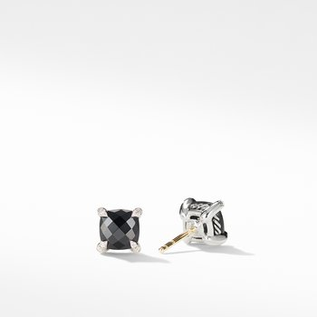 Chatelaine® Stud Earrings with Black Onyx and Diamonds