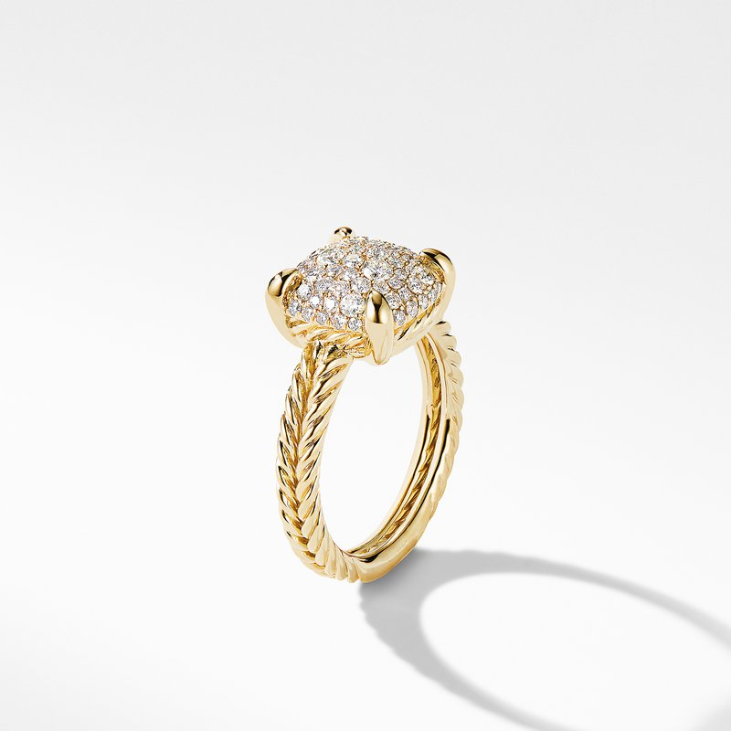 David Yurman Chatelaine® Ring in 18K Yellow Gold with Full Pavé Diamonds