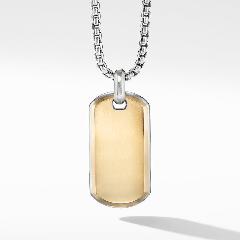 David Yurman Streamline® Tag with 18K Yellow Gold
