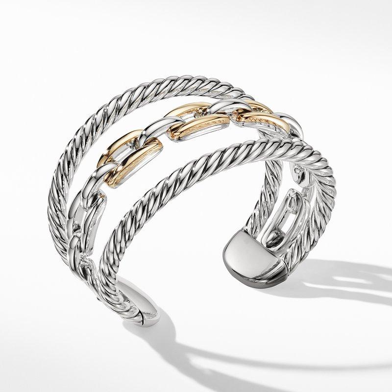 David Yurman Wellesley Link Multistack Bracelet with 18K Gold