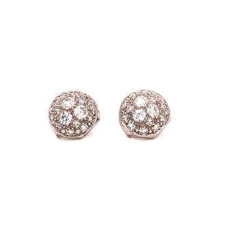 Vintage Platinum Pave Diamond earrings