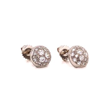 Vintage Platinum Pave Diamond earrings