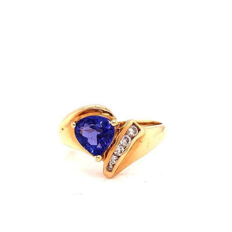 Estate & Pre-Owned Jewelry Tanzanite & Diamond ring