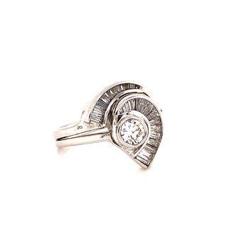 .90 ct Baguette Diamond Fashion Ring - 14K White Gold
