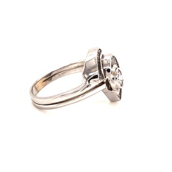.90 ct Baguette Diamond Fashion Ring - 14K White Gold