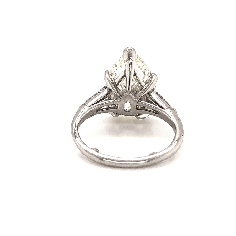 Estate & Pre-Owned Jewelry 4.87 ct Pear Shape Engagement Ring - Platinum
