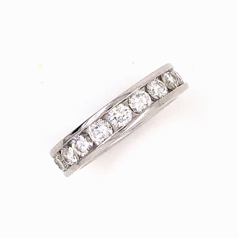 Estate & Pre-Owned Jewelry 1.90 ct Platinum Diamond Eternity band- Size 5.25