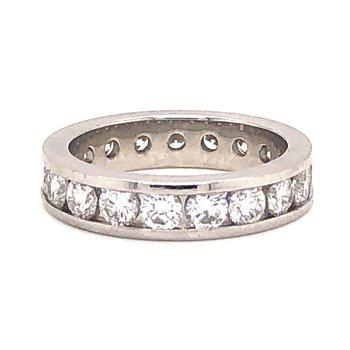 1.90 ct Platinum Diamond Eternity band- Size 5.25