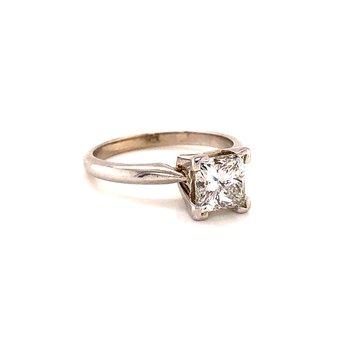 1.48 Ct Diamond Solitaire - Princess Cut