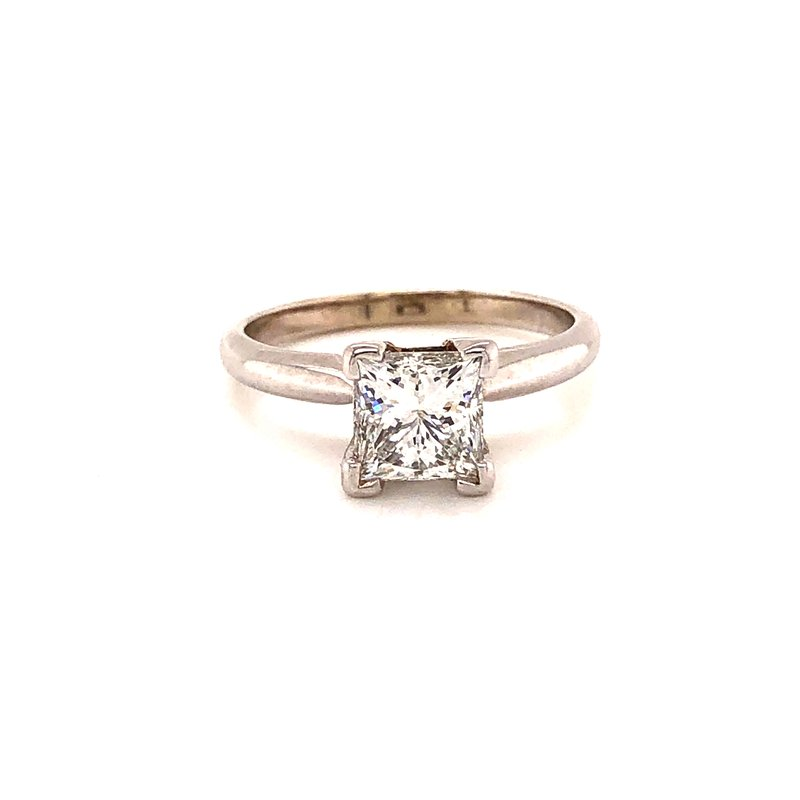 Estate & Pre-Owned Jewelry 1.48 Ct Diamond Solitaire - Princess Cut