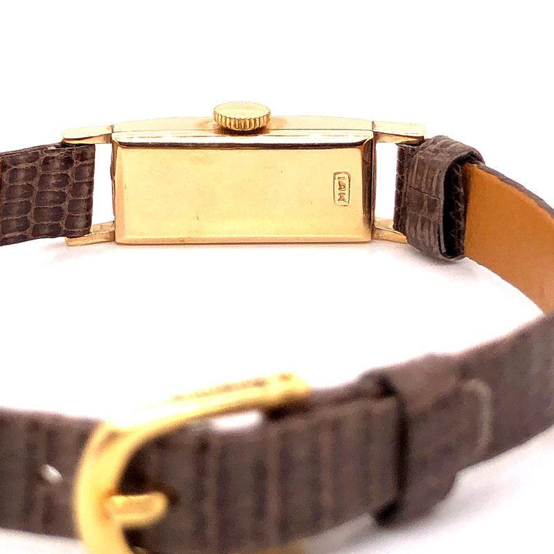 Pre-Owned Watches Baume & Mercier Vintage watch - 14k Yellow gold - White Dial - Manual Wind Movement