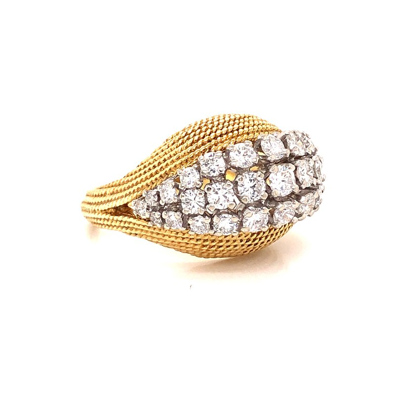 Estate & Pre-Owned Jewelry Vintage Domed Diamond Cluster Ring - 2.00 TW