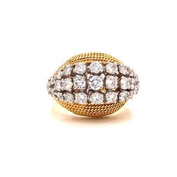 Vintage Domed Diamond Cluster Ring - 2.00 TW