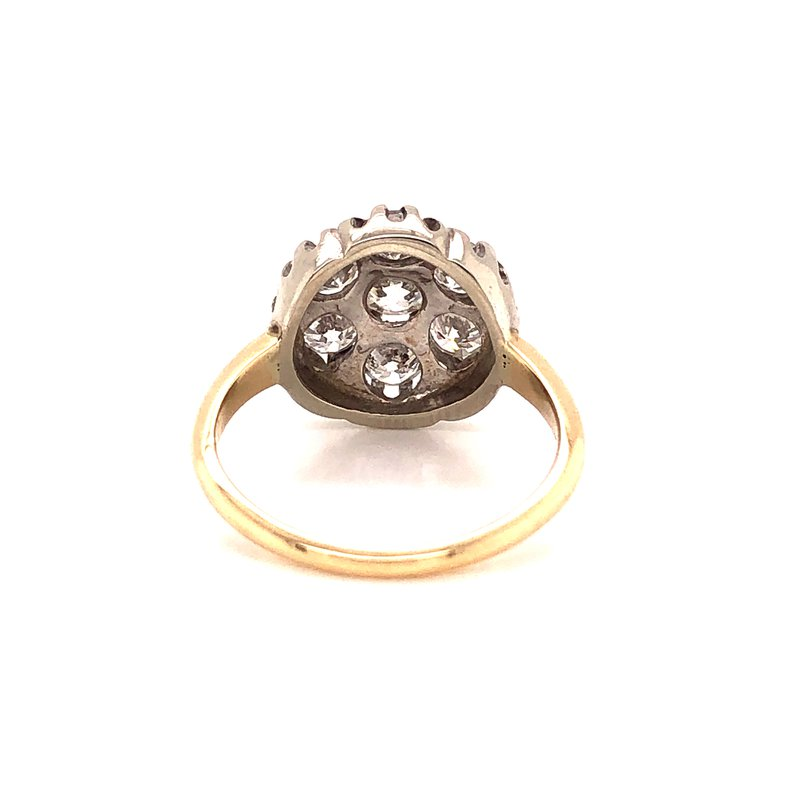 Estate & Pre-Owned Jewelry 1.75 ct Diamond Cluster Ring - 14K Yellow/White Gold