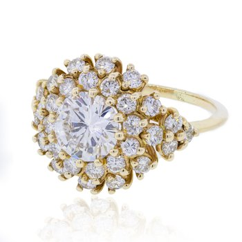 1.50 Ct Diamond Cocktail Ring