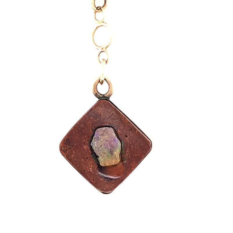 Estate & Pre-Owned Jewelry Mexican Fire Opal Bar Fob