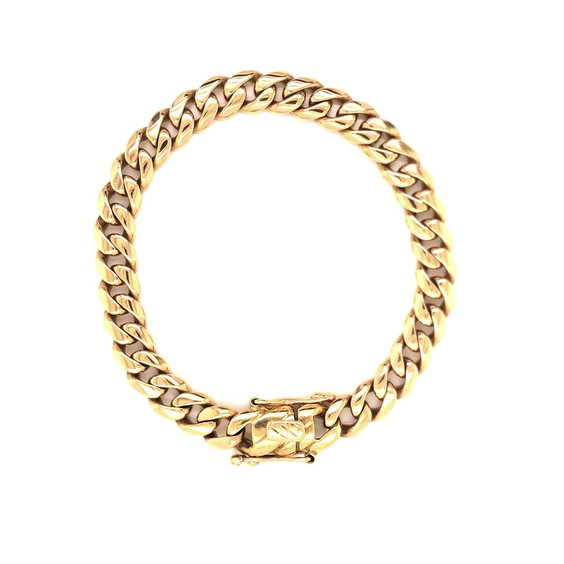Estate & Pre-Owned Jewelry Cuban Link Bracelet 18 karat yellow gold - 8.75""