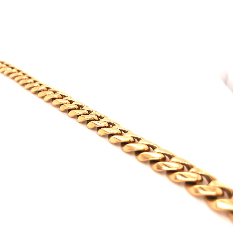 "Estate & Pre-Owned Jewelry Cuban Link Bracelet 18 karat yellow gold - 8.75"""