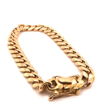 Cuban Link Bracelet 18 karat yellow gold - 8.75""