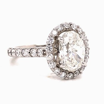 2 ct Oval Diamond ring