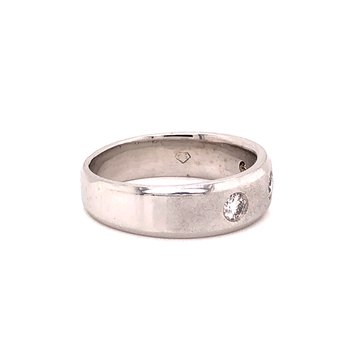 Gents Diamond ring - 14K white gold