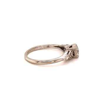 Vintage Diamond Ring - 14K White/Palladium