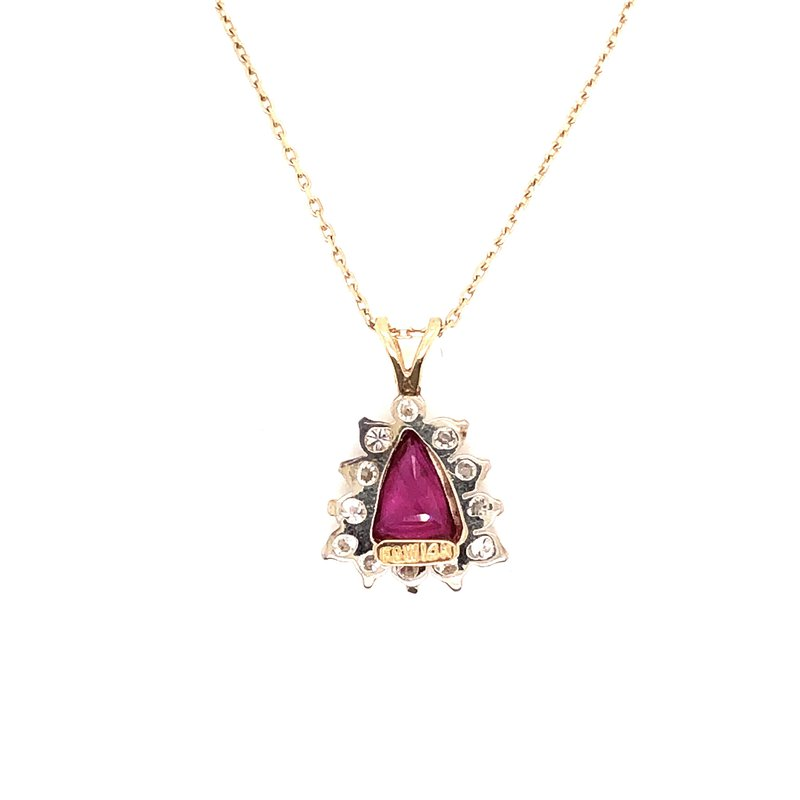 Estate & Pre-Owned Jewelry Ruby & Diamond pendant