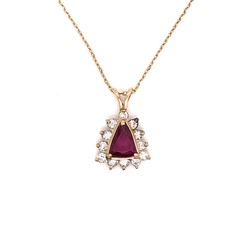 Estate & Pre-Owned Jewelry Ruby & Diamond pendant