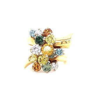 Fancy Diamond cocktail ring - 3.71 TW