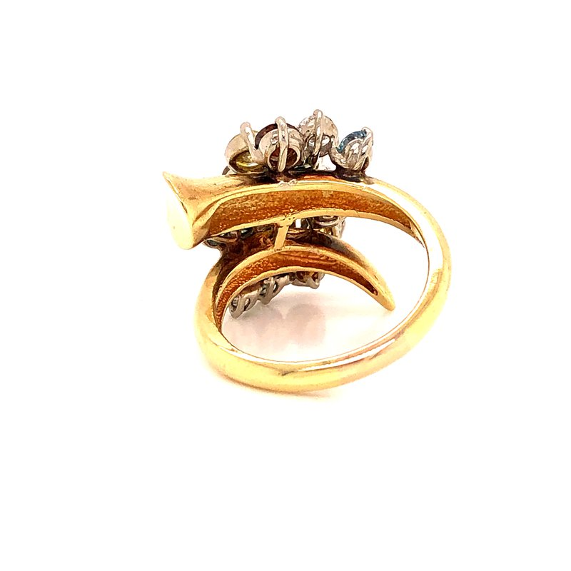 Estate & Pre-Owned Jewelry Fancy Diamond cocktail ring - 3.71 TW
