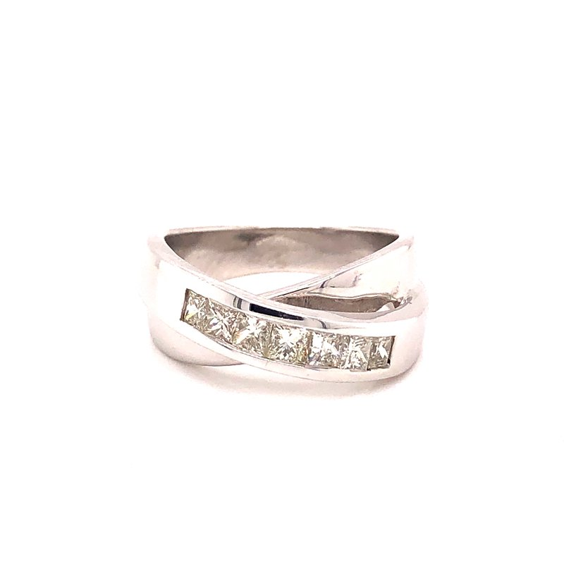 Estate & Pre-Owned Jewelry Cross-over Diamond Ring -  .74TW