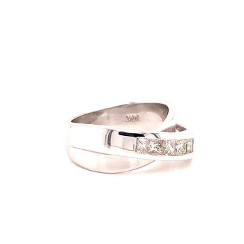 Cross-over Diamond Ring -  .74TW