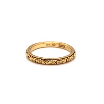 Vintage gold band - 18K yellow gold