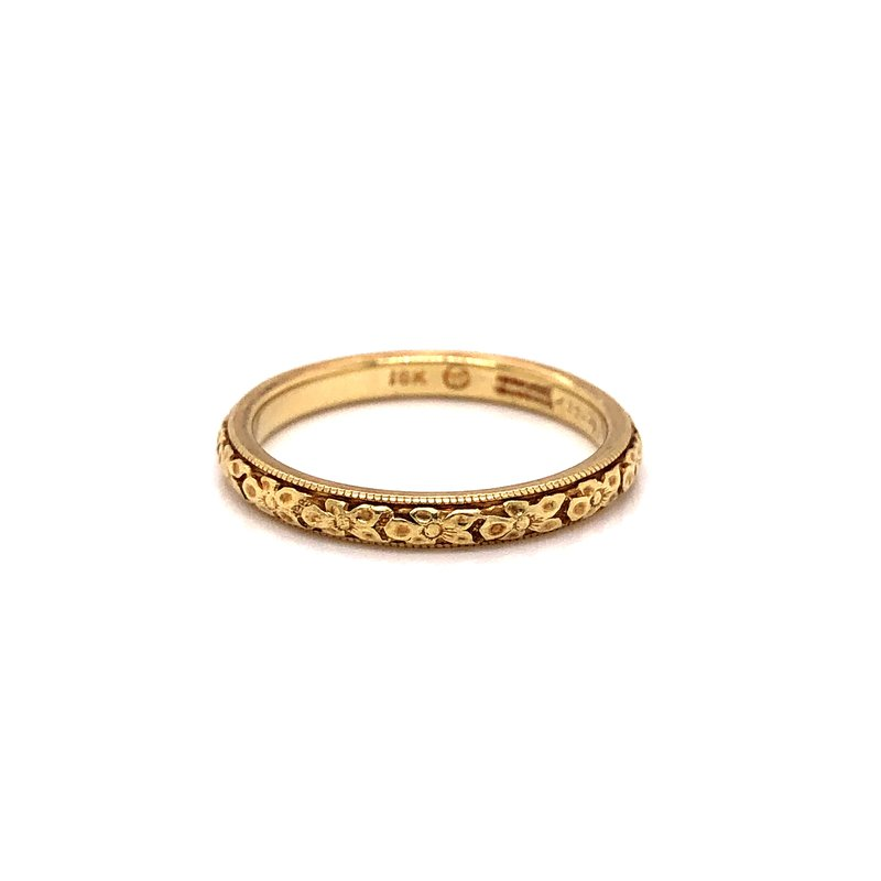 Estate & Pre-Owned Jewelry Vintage gold band - 18K yellow gold