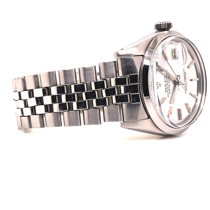 Pre-Owned Watches Rolex DateJust - Ref 1600 - Circa 1966 - 36mm - Silver Index Dial - Jubilee bracelet
