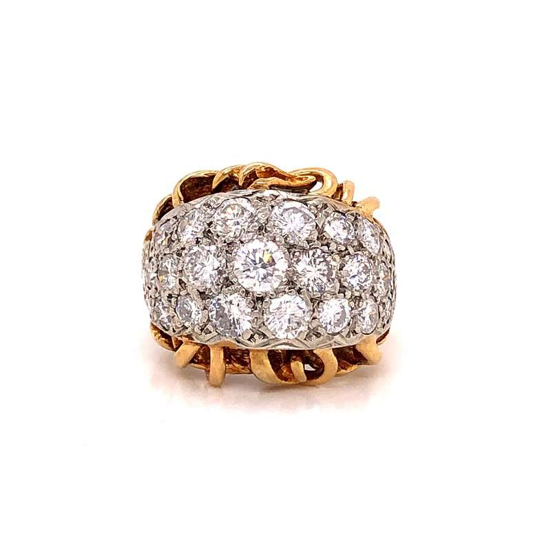 Estate & Pre-Owned Jewelry 3.20 ct Domed Diamond Cocktail Ring