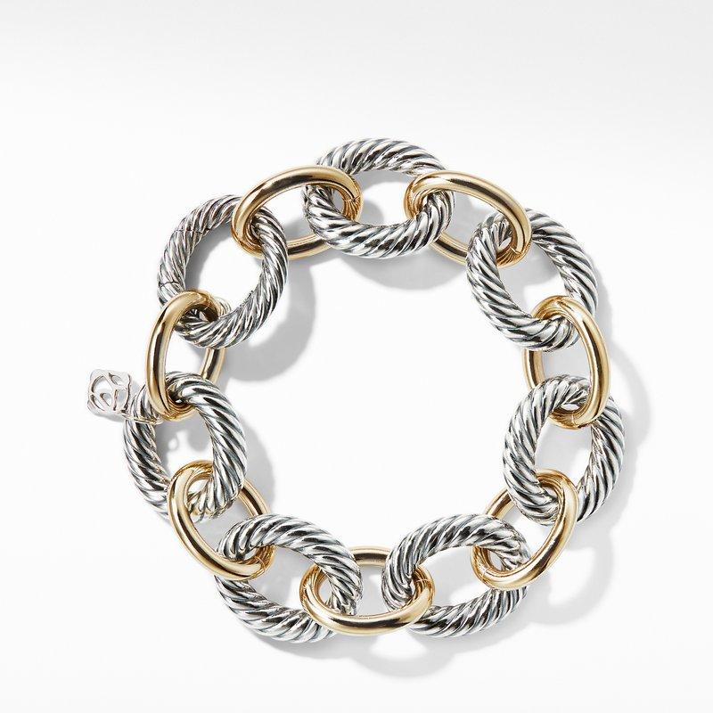 David Yurman Extra-Large Oval Link Bracelet with 18K Gold
