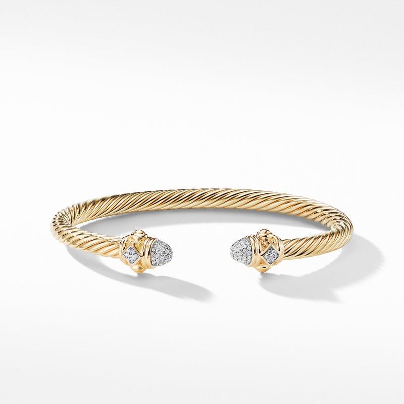 David Yurman Renaissance Bracelet with Diamonds in 18K Gold, 5mm