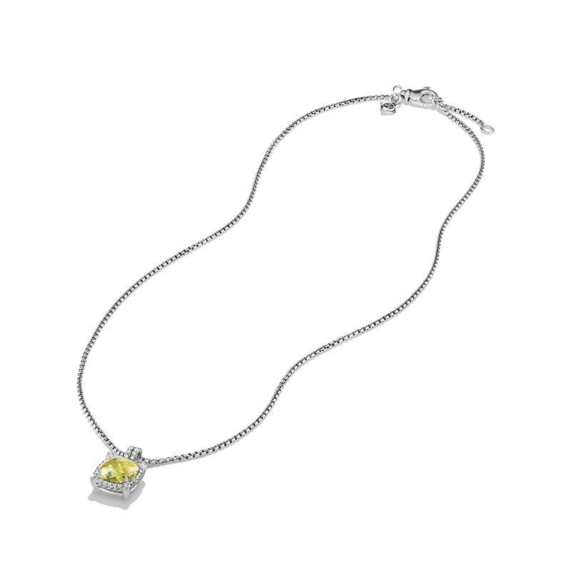 David Yurman Châtelaine Pave Bezel Pendant Necklace with Lemon Citrine and Diamonds mm
