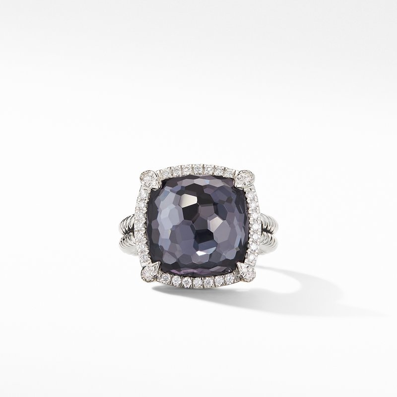 David Yurman Chatelaine® Pavé Bezel Ring Black Orchid